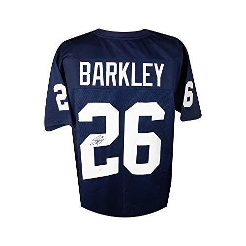 Saquon Barkley Autographed Penn State Custom Blue Football Jersey - JSA COA (C)