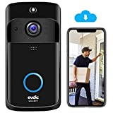 Video Doorbell Camera Wireless WiFi [2021 Upgrade] IP5 Waterproof HD WiFi Security Camera Real-Time Video for iOS & Android Phone Night Light