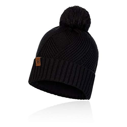 Original Buff Buff Knitted & Fleece Band Hat Raisa Black Cappello, Uomo, Nero, Taglia Unica