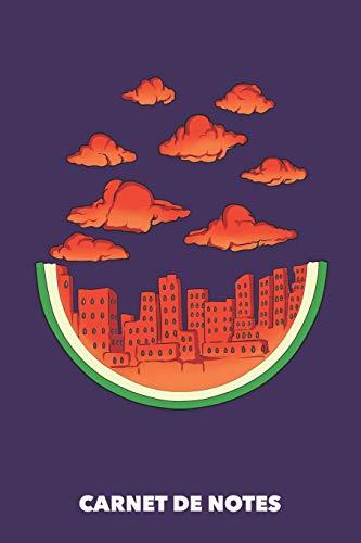 Carnet de Notes: La ville de la pastèque A5 pointillé / grille de points - 120 pages pour les gens à la mode (violet)