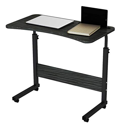 GY Hoogte Verstelbare Houten Laptop Tafel, Computer Werkstation IPad Slot Met Tablet, Draagbare Mobiele Nachtkastje Bijzettafel 2 Kleuren, 71-90cm