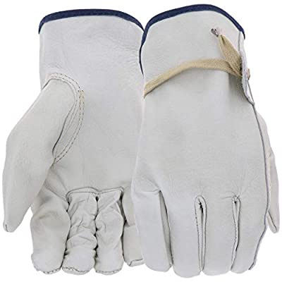 West Chester 84055 Premium Grain Cowhide Leather Unlined Driver Work Gloves