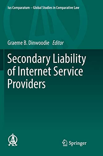 Secondary Liability of Internet Service Providers: 25