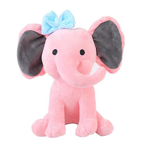 Knuffel, Schattige Olifant Knuffels Bedtijd Originelen Zachte Knuffeldier Voor Baby Kinderen Verjaardagscadeau 25cm roze
