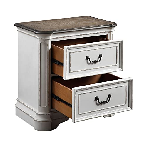 Cuis Wood Two Drawer Night Stand