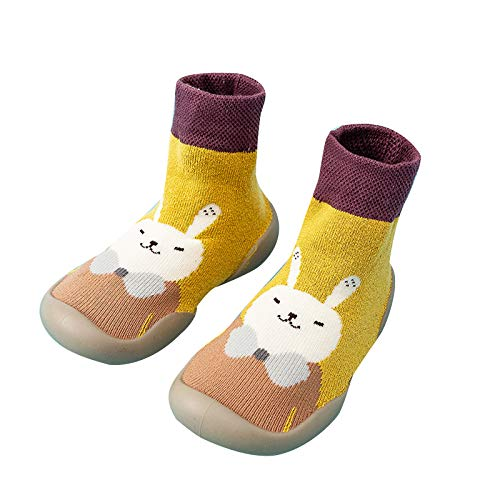 Syfinee Toddler Socks Socks for Boys and Winter Cartoon Socks Shoes Toddler Shoes Boys Girls First Walk Shoes Thicken Anti Slip