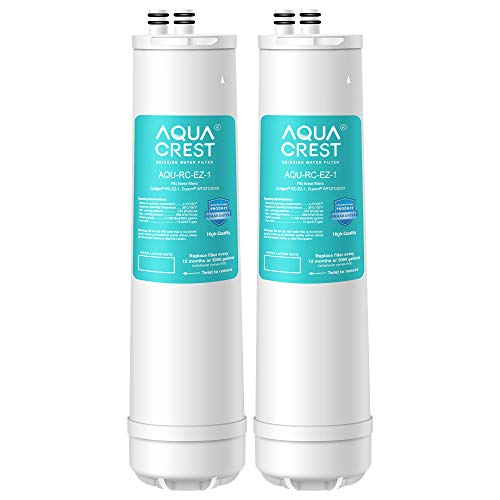 AQUACREST RC 1 EZ-Change Premium Water Filtration Replacement Cartridge, Replacement for Culligan IC-EZ-1, US-EZ-1, RV-EZ-1, Brita USF-201, USF-202, DuPont WFQTC30001, 3,000 Gallons (Pack of 2)