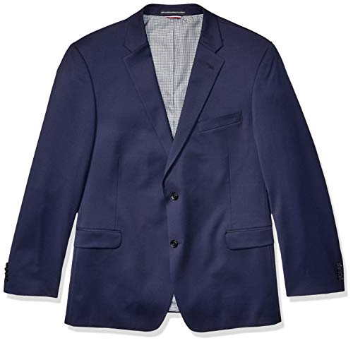 Tommy Hilfiger Men's Jacket Modern Fit Suit Separates with Stretch-Custom Jacket & Pant Size Selection, Navy, 50L