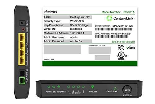 CenturyLink Actiontec PK5001A ADSL2/2+ Modem & Wireless N Router