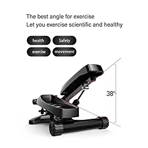 Arcwares Stair Stepper, Portable Climber Stepper with Resistance Bands and LCD Monitor. Men and Women Exercise Home Workout Equipment for Full Body Workout, Exercise, Stair Stepping Fitness.