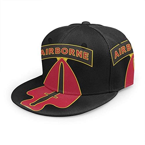 YURONG United States Army Delta Force Special Forces Unisex 3D Printing Classic Baseball Cap Snapback Flat Bill Hip Hop Hats Black