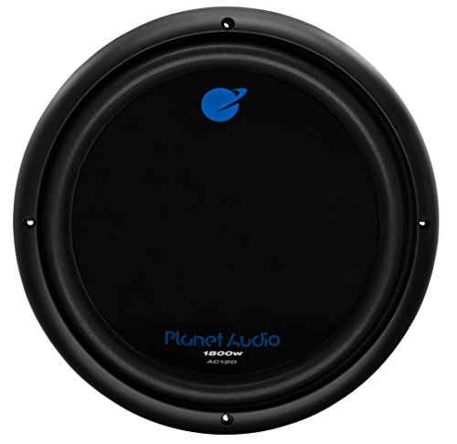Planet Audio AC12D Car Subwoofer - 1800 Watts Maximum Power, 12 Inch, Dual 4 Ohm Voice Coil, Sold Individually