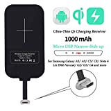 Nillkin Qi Receiver Micro USB Narrow Side Up, Thin Wireless Charging Receiver, Micro USB Wireless Charger Receiver for Galaxy J7/A3/A9/C5/C8/Note 4/Nexus 4 and Other Micro USB Android Cell Phones