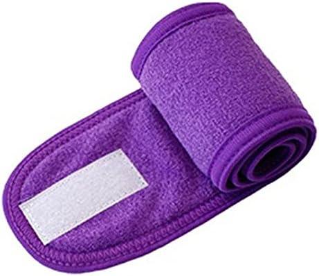 YSJJBTS Hair Accessories Cosmetic Wrap Turban Face Wash Adjustable Yoga Women Facial Toweling Bath Hairband Makeup Headbands SPA Salon Accessories (Color : A)