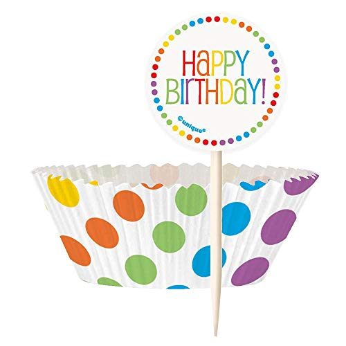 """Rainbow Party """"Happy Birthday"""" Servietten Einheitsgröße Mehrfarbig"""