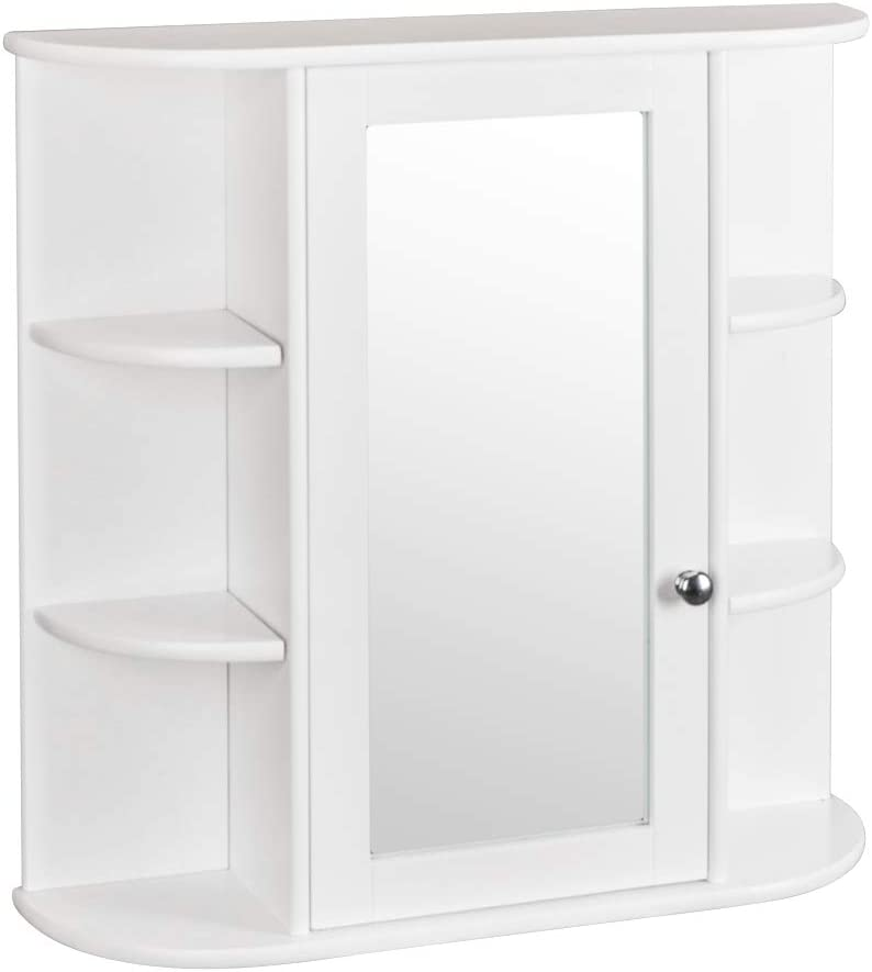 Bathroom Wall Mounted Mirror Medicine Cabinet with wholesale 3-Tier Product Shelf