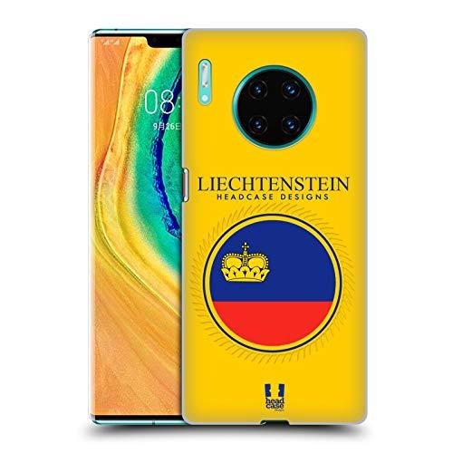 Head Case Designs Fahne Liechtensteins Fahne Flicken 2 Harte Rueckseiten Handyhülle Hülle Huelle und Passende Designer Hintergrundbilder kompatibel mit Huawei Mate 30 Pro / 5G