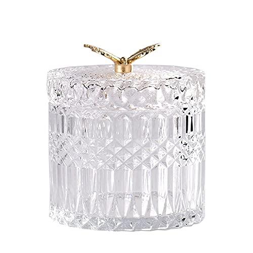 Tarro de Almacenamiento de Cristal, Transparente Mariposa Tarro para Dulces, Caja de Caramelos Cristal, Botes de Cristal con Tapa Decoracion, Tarro de Caramelos para Exhibición De Fiestas Boda