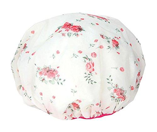 Design de mode Belles fleurs capuchon de douche réutilisable