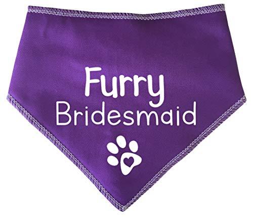 Spoilt Rotten Huisdieren S3 Harige Bruidsmeisje Leuke Paarse Hond Bandana - Bruiloft Draag Voor Honden Middelgrote Honden Labrador & Personeel