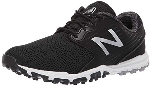 New Balance Women's Minimus SL Breathable Spikeless Comfort Golf Shoe, Black, 6
