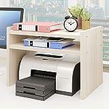 Supporti per stampante Stampante Stand Stampante laser scanner copiatrice stand Shelf con deposito di legno Desk carta Organzier for la casa / ufficio, Riser Stampante (Original Legno Colore) Organizz