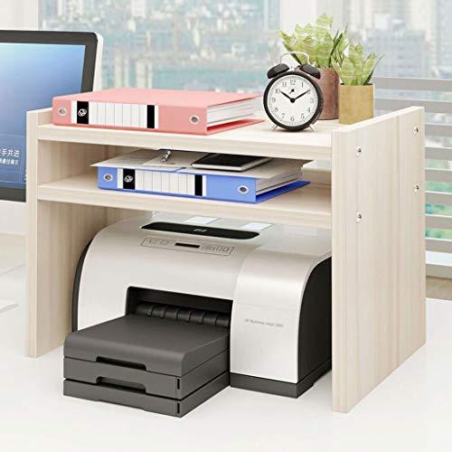 Bürowagen Druckerständer Laserdrucker Kopierer Scanner Ständer Regal mit Speicher Holz Schreibtisch Papier for...