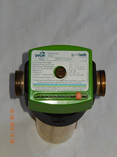 Grünbeck GENO Feinfilter Typ: FS,FSV,GB, 1 Zoll (DIN: DGV), R 347, Wasserfilter, Wasseraufbereitung, geprüft