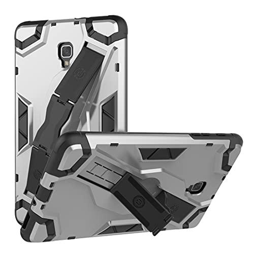 ZHIWEI Tablet PC Bag Custodia per Tablet per Samsung Galaxy Tab A 2017 (T385), TPU + PC Copertura Protettiva Multi-Funzione Antiurto con Manico Pieghevole Kackstand (Color : Gray)