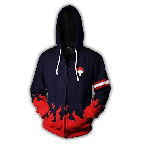 RENEO Sudaderas Hombre Chaqueta con Capucha Camiseta,Anime Naruto Cos Uchiha Itachi, Chaqueta De...
