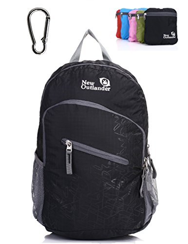 Outlander Packable Handy Lightweight Travel Hiking Backpack Daypack-Black-L