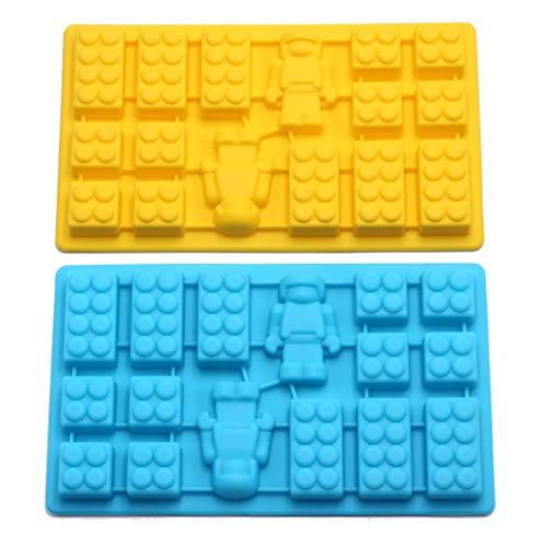 Minifigure Multi Building Bricks Ice Cube Trays