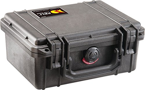PELI 1150 Behälter für Optische und Elektronische Instrumente, IP67 Wasser- und Staubdicht, 3L Volumen, Hergestellt in den USA, Mit Schaumstoffeinlage (Anpassbar), Schwarz