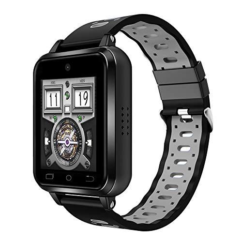 Reloj inteligente 4G, reloj inteligente con pantalla táctil completa TFT de 1,54 pulgadas, reloj inteligente para negocios y deportes con monitor de ejercicio, pulsera inteligente impermeable IP67 pa