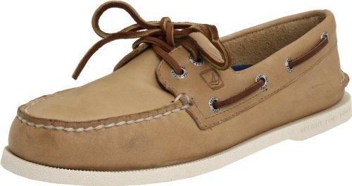Sperry Mens A/O 2-Eye Boat Shoe, Oatmeal, 11