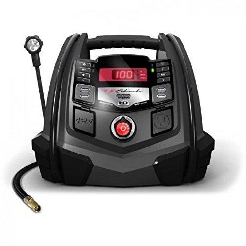 Schumacher SJ1289 1200 Peak Amp 12V Jump Starter and Air Compressor with Portable Power Ports