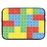955 Bloques De Construcción De Colorfull 15 Pulgadas Bolsa para Portátil Maletín para Portátiles Bolsa Pc Portátil Funda Ordenador Portatil