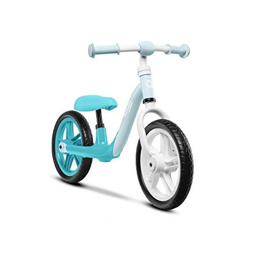 Lionelo Alex-Bicicleta Infantil (hasta 30 kg, sillín y Manillar Ajustables, Ruedas de Espuma EVA, Estructura Robusta, limitación de dirección EN 71, Color Turquesa), Small