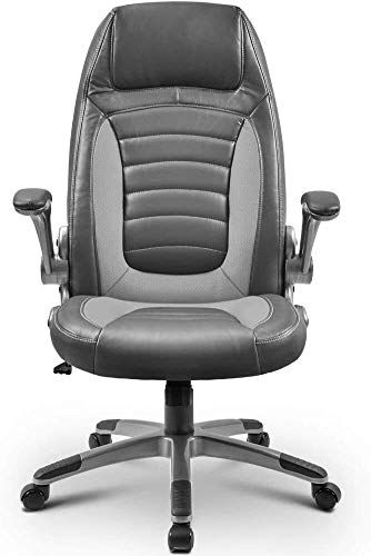 Fswallow Office Chair with Back Support Office Chair, Boss Chair, Rotating PU Lift Computer Chair, Household Reclining Swivel Chair, Gaming Internet Cafe Gaming Chair