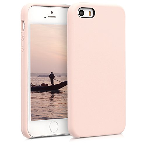 kwmobile Funda Compatible con Apple iPhone SE (1.Gen 2016) / 5 / 5S - Carcasa de TPU para móvil - Cover Trasero en Rosa Palo