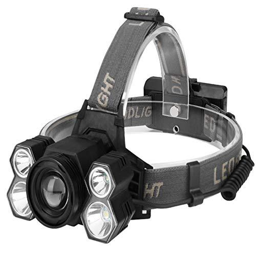 HMMDD Éblouissement LED Rotation Fixe Focus Tête Monté sur La Tête T6 Chasse D'extérieur éclairage Monté sur La Tête