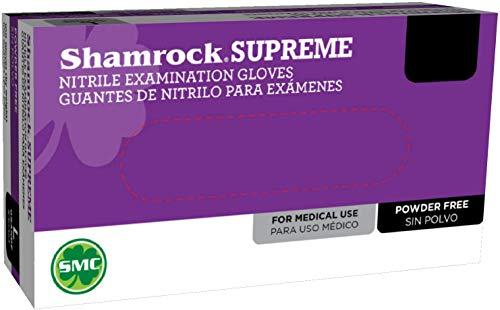 Blue Nitrile Examination Gloves, Shamrock Powder Free (X-Large)