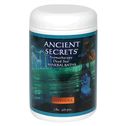 Ancient Secrets Mineral Baths, Aromatherapy Dead Sea, Lavender, 32 oz (2 Lbs) 908 G (Pack of 2) by Ancient Secrets
