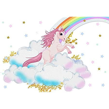 Haoyiyi 10x8ft Unicorn Baby Shower Backdrop Its a Baby Dots Background Photography Wedding Cake Dessert Table Artistic Portrait Activity Decor Banner Photo Booth Video Drape Drop Supplies
