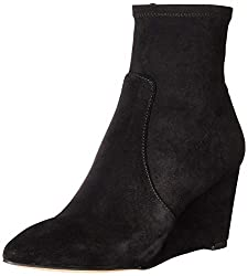in budget affordable Magnificent flat ankle boots for women, blksde, 7 M US