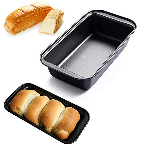 Loaf Pan Toast Mold Carbon Steel Bread Baking Pan Nonstick Cake Making Tray Small Loaf Pan Bake Food Serving Tool for Home Kitchen Bakeware, 9.8'x5.1'
