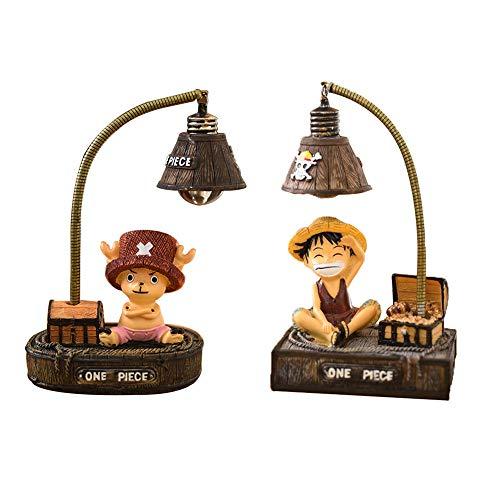 Yuxareen Anime One Piece LED Nachtlicht Lampe, Chopper & Luffy Nachttischlampe Schreibtischlampe Deko für Wohnzimmer/Kinderzimmer(2pcs)