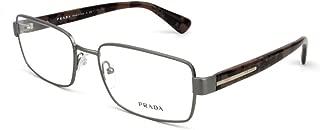 Prada PR60QV Eyeglasses-LAI/1O1 Matte Brushed Gunmetal-56mm