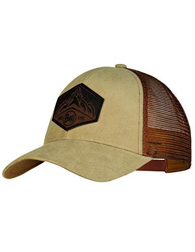 Buff Herren Trucker Cap, Kernel Brindle Brown, One Size