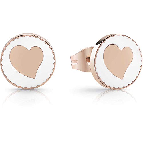 Guess Earrings Summer Love Collection - UBE78126 Cuori Rose Gold